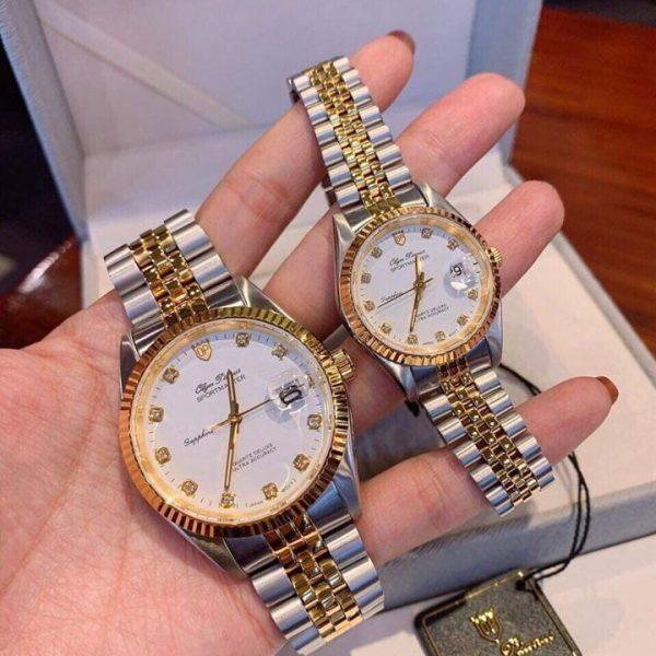 Đồng hồ đôi Olym Pianus OP89322GSK-T